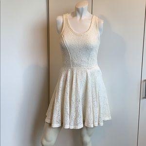 Express Tea style dress Crochet overlay